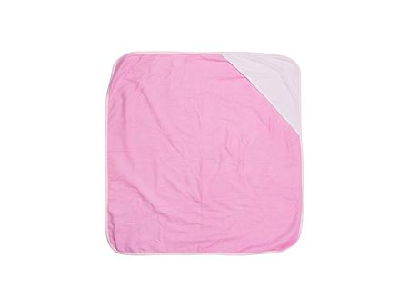 Sublimation Baby Hooded Towel (80*80, Rose Red)
